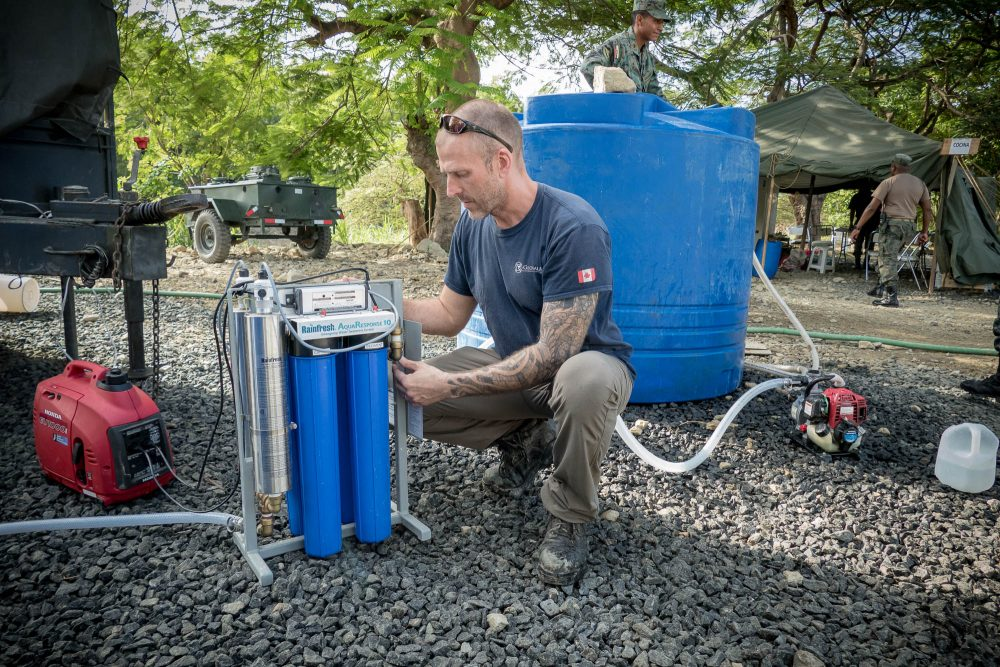 emergency disaster relief water purification systems AR10 Ecuador