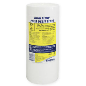 High flow water filter cartridges