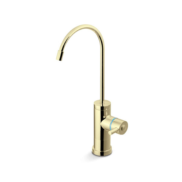 drinking water faucet polished brass